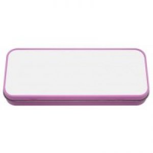 sublimation blanks pencil tin pink
